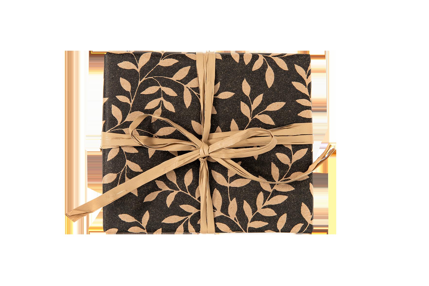 Scatola regalo foglie