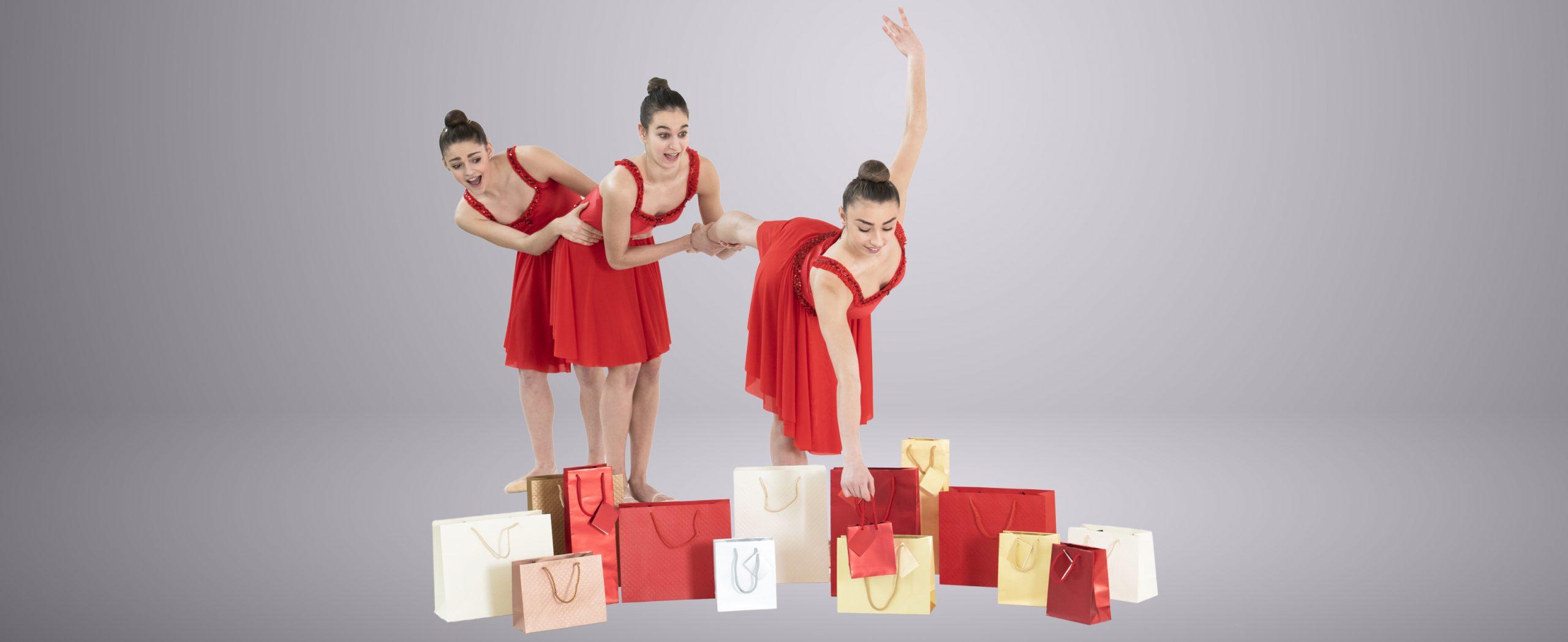 Buste di carta natalizie