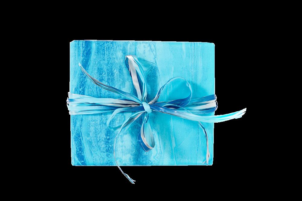 Scatola regalo azzurra